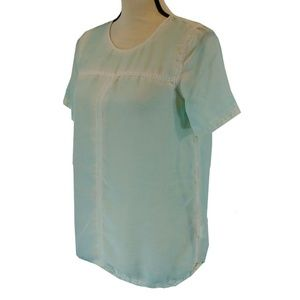 Madewell Broadway & Broome Silk Top Small Green